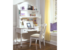 Madison Natural White Painted Desk Hutch