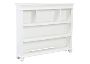 Madison Natural White Painted Bookcase/Hutch