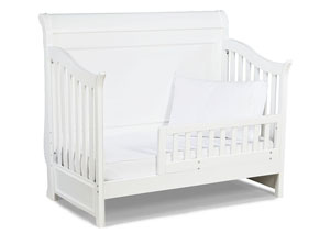 Madison Natural White Painted Toddler Daybed and Guard Rail