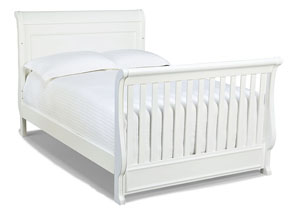 Madison Natural White Painted Converter Bed Rails - Converts Crib to Full Size Bed* Size 55x88x48