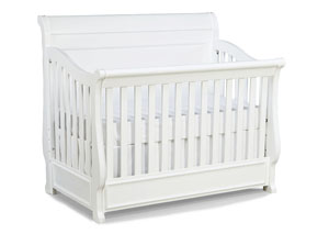 Madison Natural White Painted Grow With Me Convertible Crib
