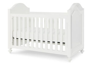 Madison Natural White Painted Stationary Crib