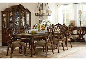 Pemberleigh Burnished Brandy 5 Piece Dining Set