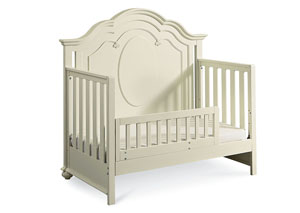 Charlotte Antique White w/Light Distressing Toddler Daybed and Guard Rail