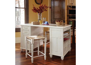 Sea Breeze Day Dream Craft Desk with Stools