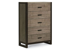 Image for Helix Charcoal & Stone 5 Drawer Chest