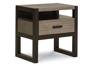 Image for Helix Charcoal & Stone Nightstand