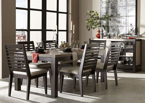 Image for Helix Charcoal & Stone 7 Piece Dining Set