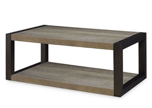 Image for Helix Charcoal & Stone Rectangular Cocktail Table
