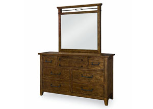 River Run Bourbon Dresser/Mirror