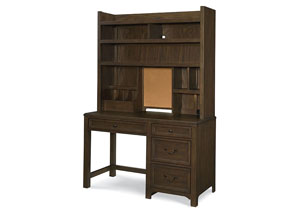 Kenwood Suede Desk Hutch