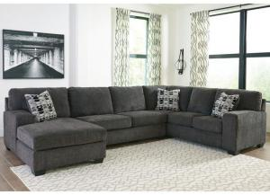 Ballinasloe Smoke 3 piece LAF Chaise sectional