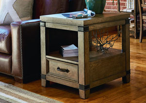 Metalworks Factory Chic End Table