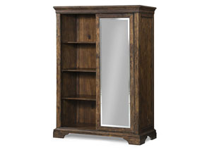 Tulsa Sliding Door Chest (6 Drawers/3 Open Shelves)