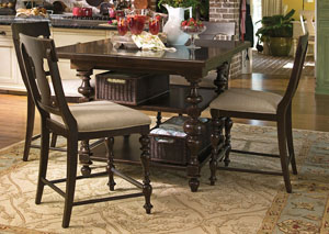 Paula Deen Tobacco Kitchen Gathering Table