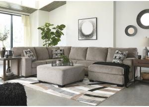 Ballinasloe Platinum 3 piece RAF Chaise sectional