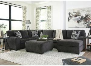 Ballinasloe Smoke 3 piece RAF Chaise Sectional