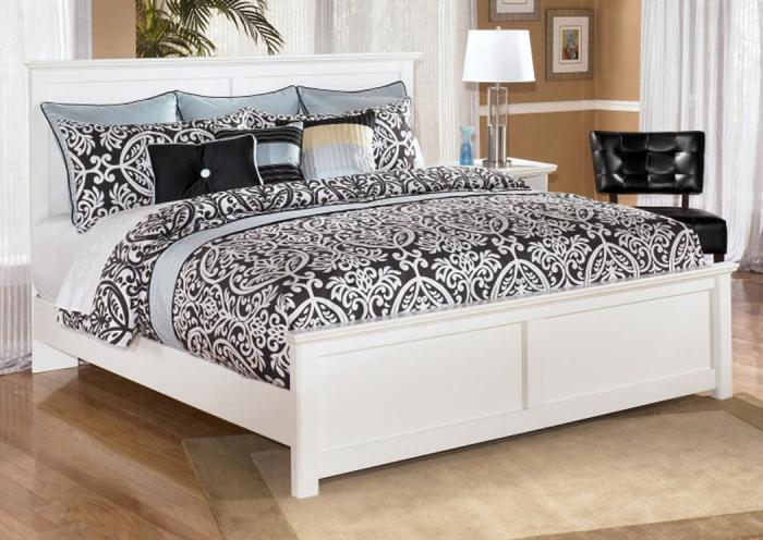 MB5 Cottage White King Bed,Taft Furniture Showcase