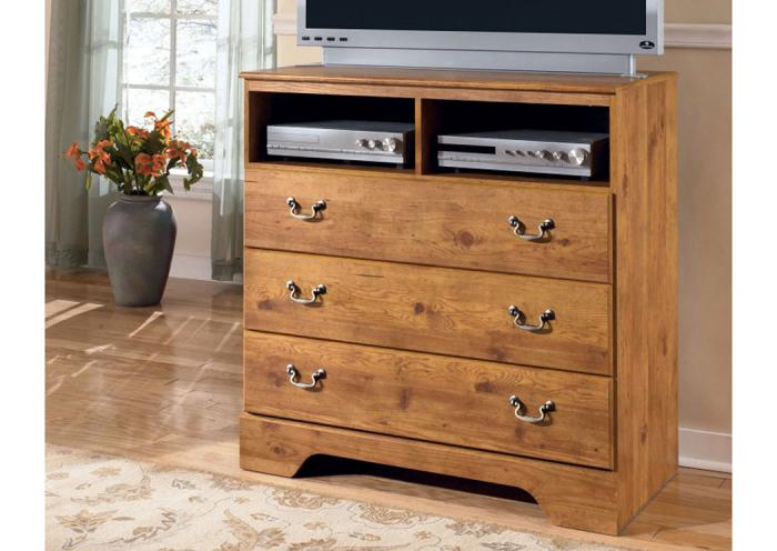 MB9 Light Pine Country Media Chest ,Taft Furniture Showcase