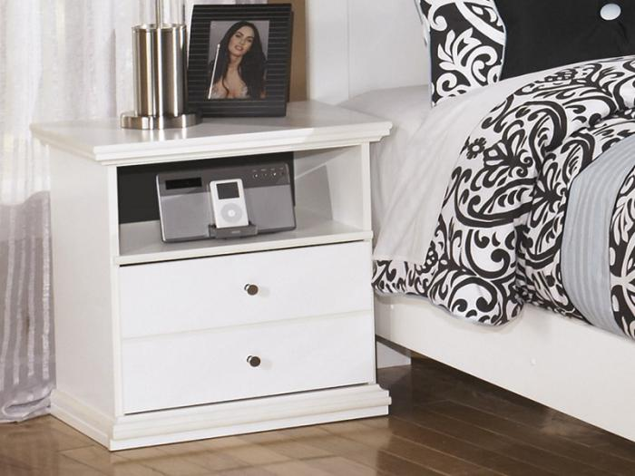 MB5 Cottage White Nightstand,Taft Furniture Showcase