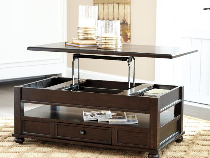 Porter Brown Lift-Top Cocktail Table,Taft Furniture Showcase