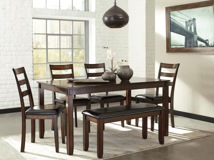 Taft Furniture Sleep Center Dr98 Rustic Brown Dining Table Bench
