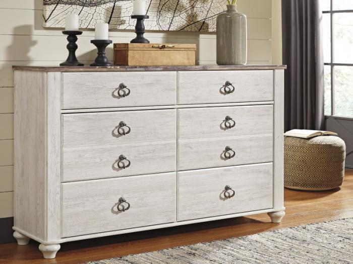 MB107 2-Tone Whitewash Dresser,Taft Furniture Showcase