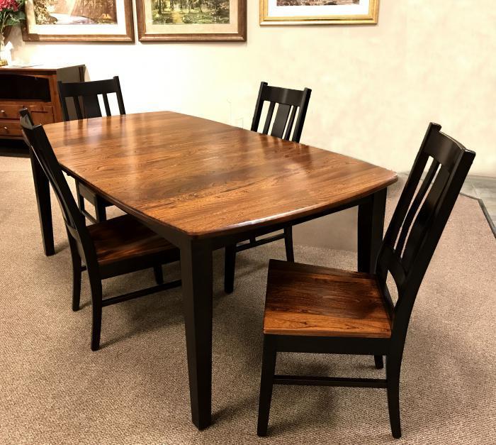 Taft Furniture Sleep Center Elm Onyx Dining Table 4 Chairs