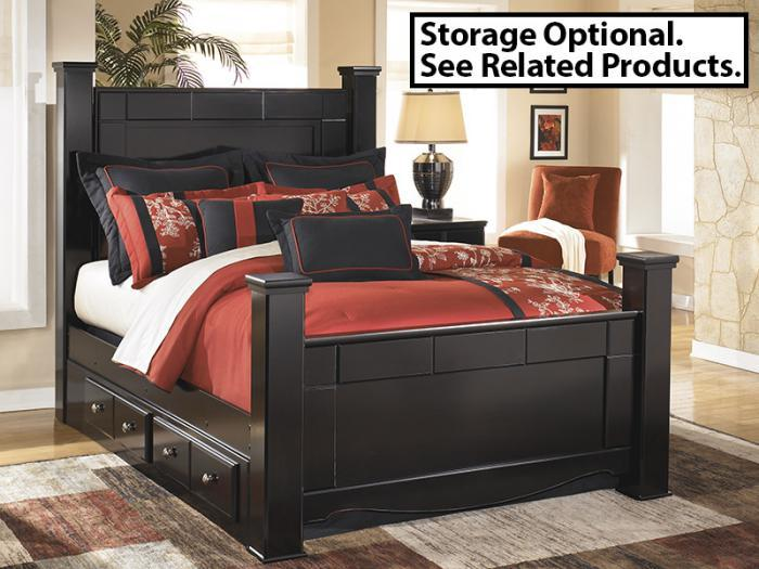 MB20 Black Merlot Queen Bed, Dresser & Mirror,Taft Furniture Showcase