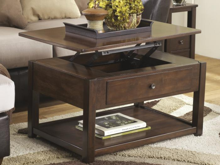 Merlot Finish Lift-Top Cocktail Table,Taft Furniture Showcase