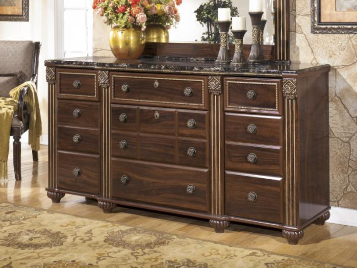 MB24 Old World Dark Dresser,Taft Furniture Showcase
