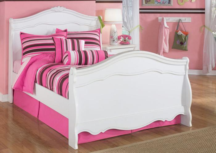 YB1 Chrystal White Full Sleigh Bed,Taft Furniture Showcase