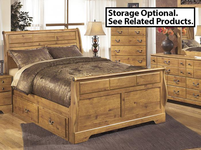 MB9 Light Pine Country Queen Sleigh Bed,Taft Furniture Showcase