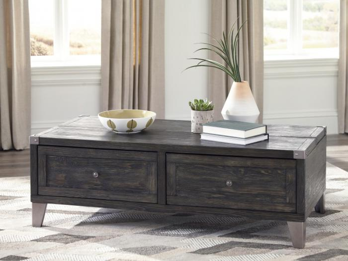 Dark Gray Rectangular Lift-Top Cocktail Table,Taft Furniture Showcase