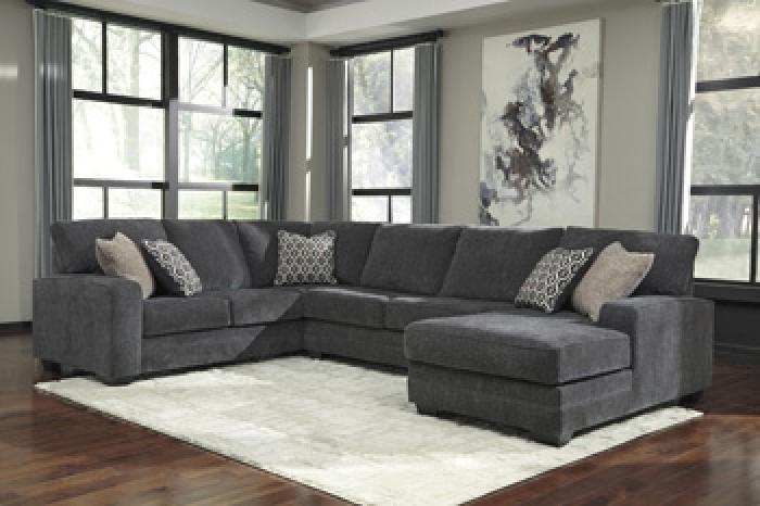 Taft Furniture Sleep Center Acanthus Slate 3 Piece Sectional