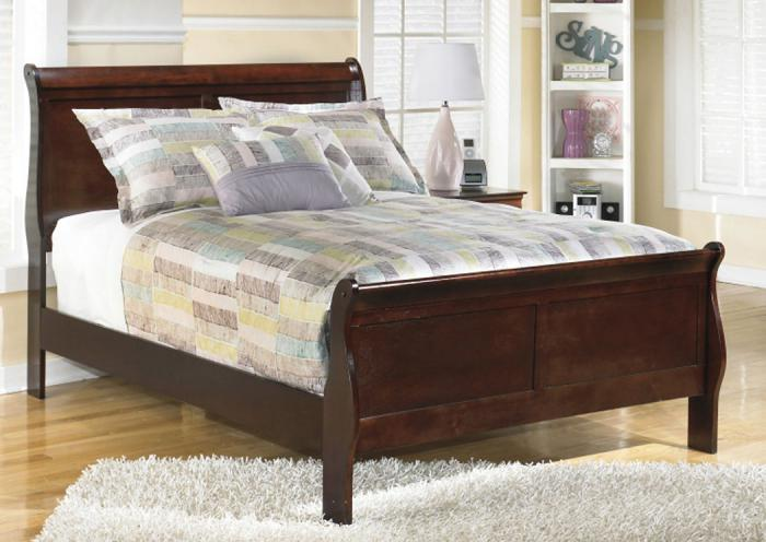 MB13 Louis Brown Cherry Full Sleigh Bed,Taft Furniture Showcase