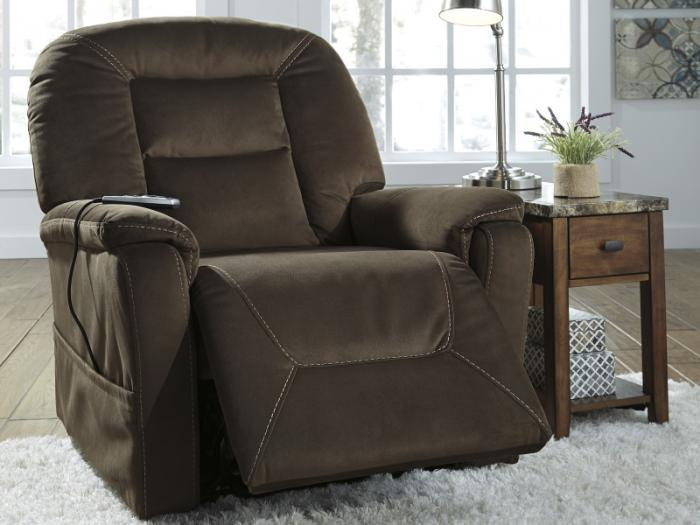 Coffee Power Lift Massaging Heated Recliner,Taft Furniture Showcase