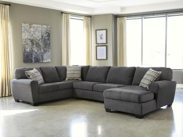 Taft Furniture & Sleep Center Slate 3-Piece Sectional from ...