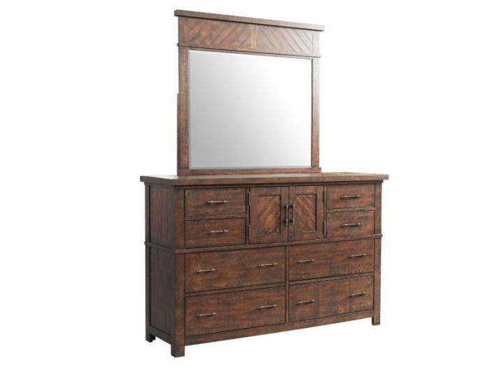 MB128 Rustic Dresser & Mirror,Taft Furniture Showcase