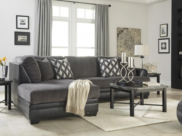 Diamond Smoke 2-Piece Sectional,Taft Furniture Showcase