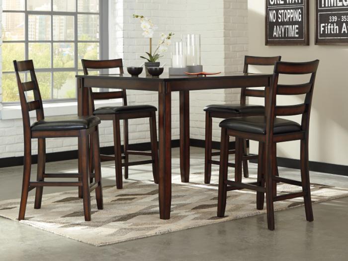Taft Furniture Sleep Center Dr98 Rustic Brown Pub Table 4 Stools