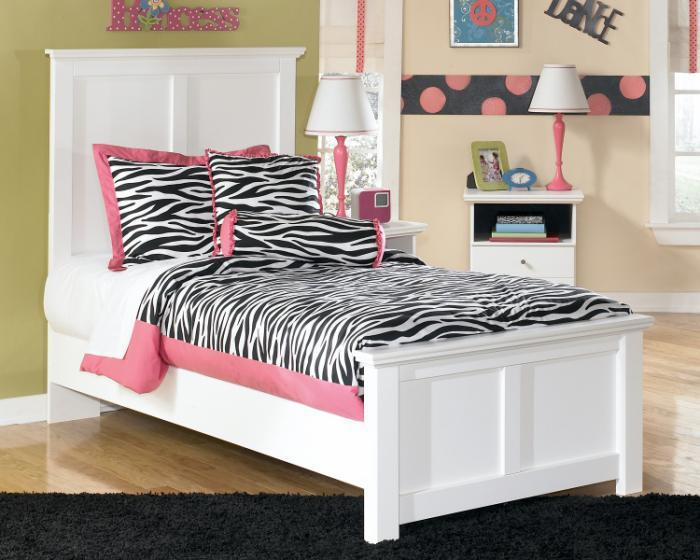 MB5 Cottage White Twin Bed,Taft Furniture Showcase