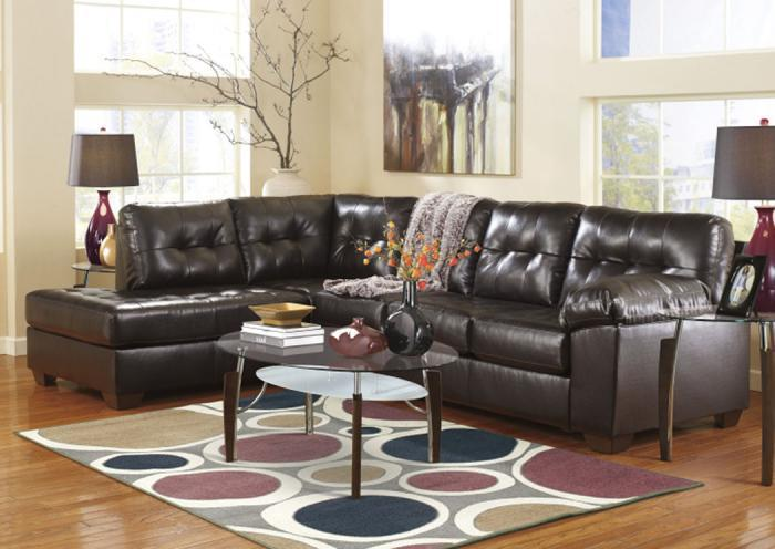 LR48 Chocolate 2-Piece Leatherblend Sectional,Taft Furniture Showcase