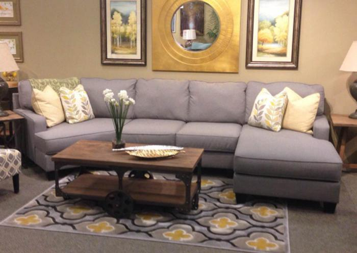 LR53 Alloy 3-Piece Sectional II from the Edward Collection,Taft Furniture Showcase