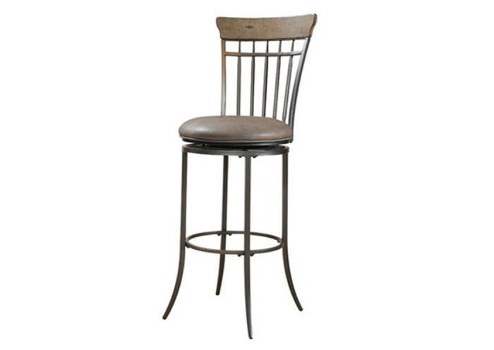 WS30-74 - Swivel (Vertical Spindle Back) Bar Stool,Taft Furniture Showcase