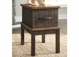 Acacia 2-Tone Chairside End Table with USB