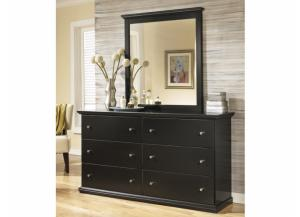 MB4 Cottage Black Dresser & Mirror