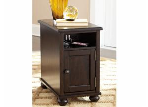 Porter Brown Chairside End Table with USB