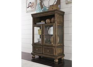 DR135 Burnished Brown Curio Cabinet