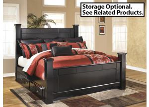MB20 Black Merlot King Poster Bed